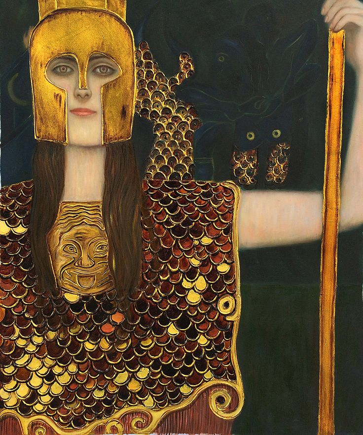 Klimt - Pallas Athene (Luxury Line)   Hand painted oil painting reproductions available at overstockArt.com #art