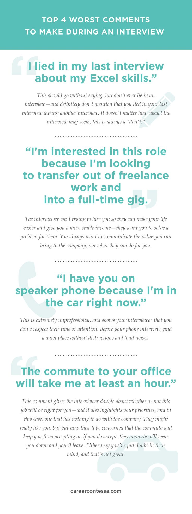 The 4 Worst Comments To Make During An Interview