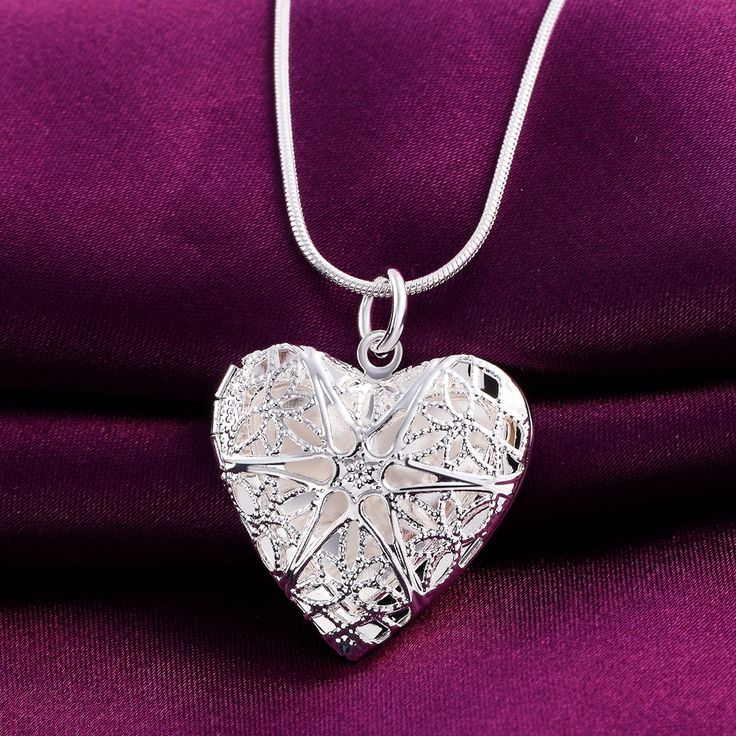 P185 Wholesale Free shipping elegant fashion silver plated jewelry charm women noble heart  pendant necklace Kinsle-in Pendant Necklaces from Jewelry & Accessories on Aliexpress.com | Alibaba Group