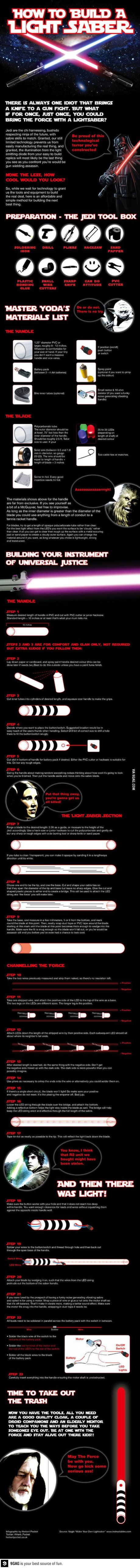 How to build your own lightsaber!