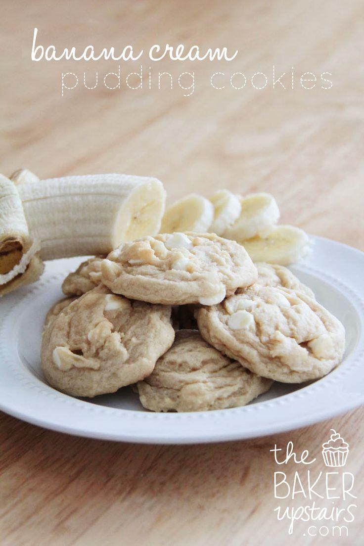 banana cream pudding cookies