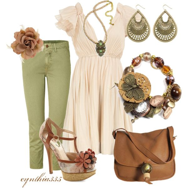 Delicate, created by cynthia335Colors Pallets, Fashion, Delicate, Clothing, Spring Colors, Cynthia335, Green Colors, Spring Outfit, Green Pants
