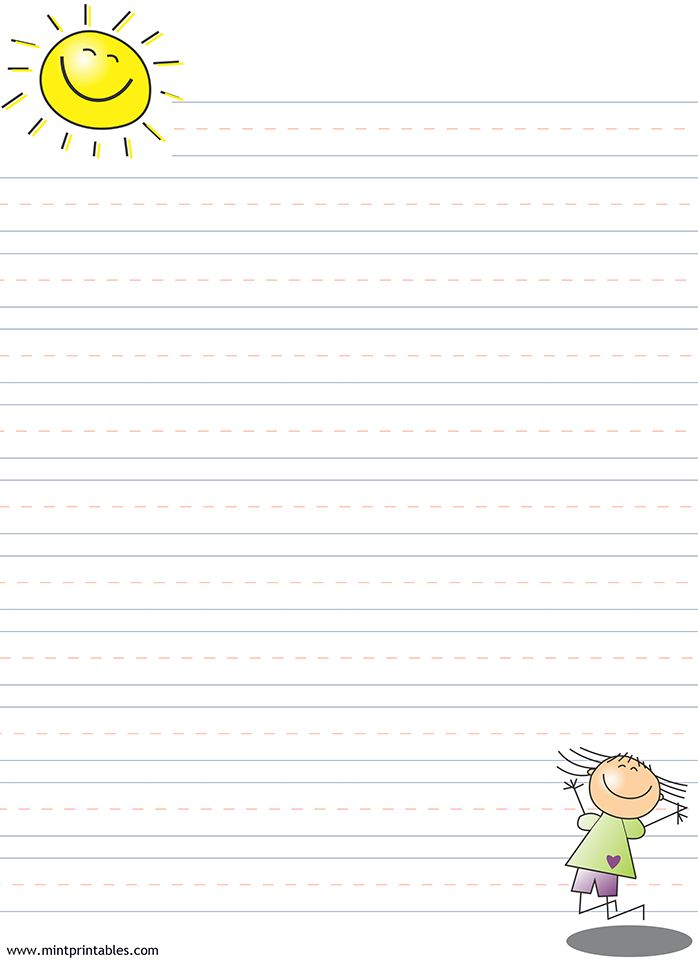 Free printable writing pages for kids