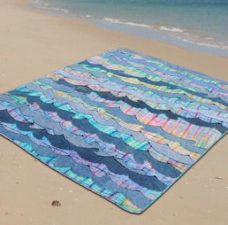 Denim Waves Beach Quilt Pattern | Quilting Pattern | YouCanMakeThis.com