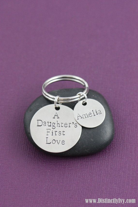 Dad And Daughter Gifts Part - 49: SALE U2013 Dad GIft U2013 Dad Key Chain U2013 New Daddy Gift U2013 Daughteru0027s First Love