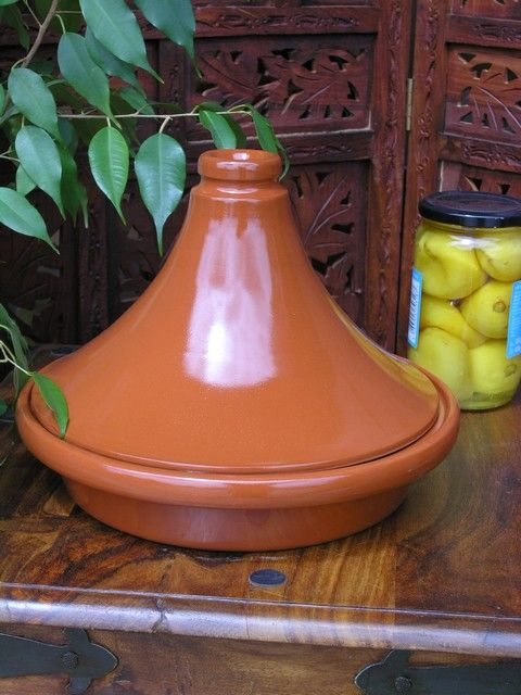 Large versatile tagine in terracotta. http://www.maroque.co.uk/showitem.aspx?id=ENT03785&p=01570&n=all