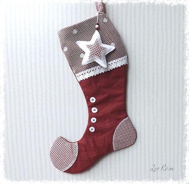 Nikolausstiefel+Weihnachtsstiefel+befüllbar+Leinen+von+LeoRosa+auf+DaWanda.com