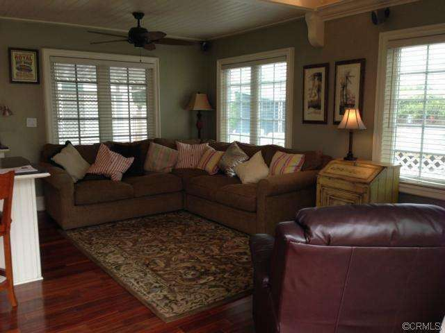living room - completed remodel of manufactured home