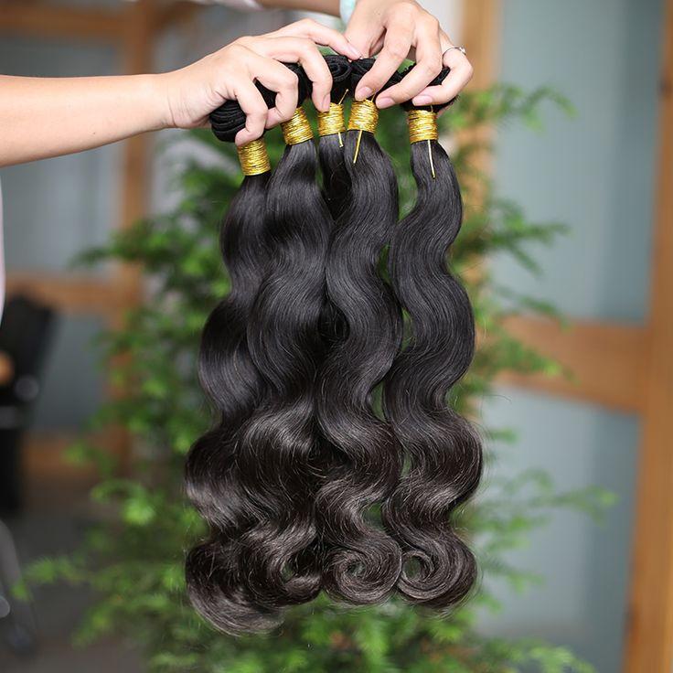 Unprocessed 7A Peruvian Virgin Hair Body Wave Human Hair Weave Peruvian Weave Hair Extension 4 Pcs Unprocessed Human Hair Weaves