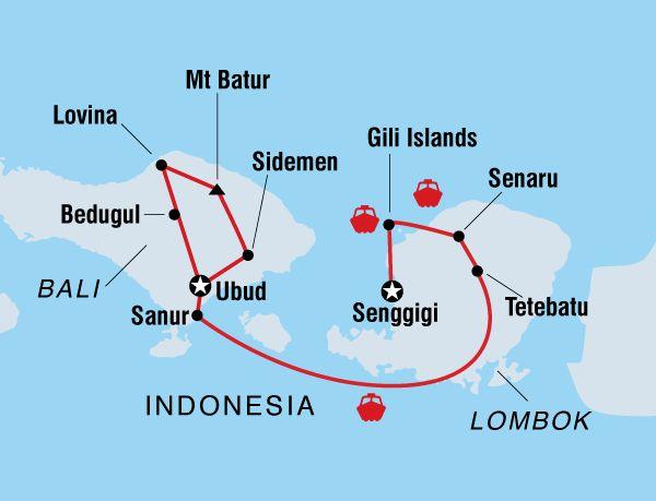A magical getaway on Indonesia's Islands. Travel across Bali and Lombok visiting arty Ubud, Mt Batur, Mt Rinjani, Lovina, the Gili Islands and Senggigi.