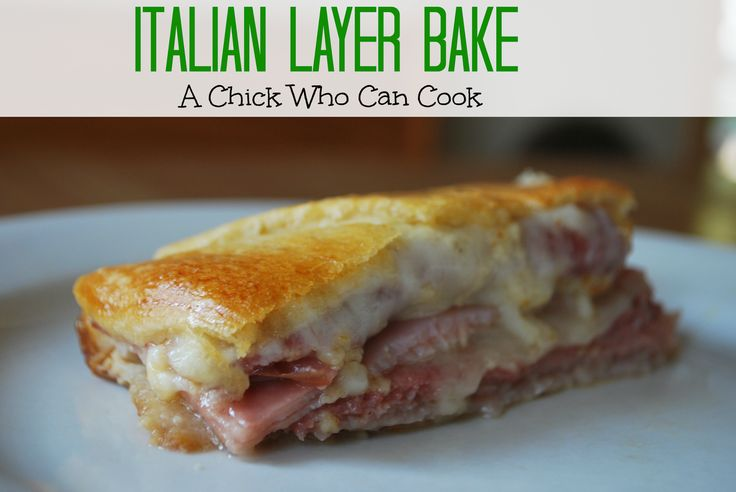 Italian Layer Bake sandwiches - A Chick Who Can Cook: Italian Layer Bake