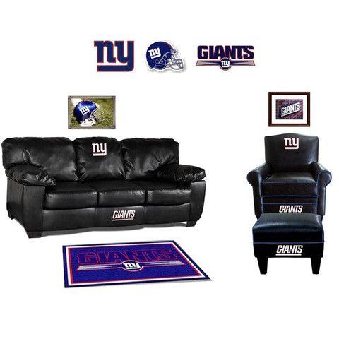 New York Giants Leather Furniture Set  sc 1 st  Pinterest & 107 best Big Blue Fan Caves images on Pinterest | New york giants ... islam-shia.org