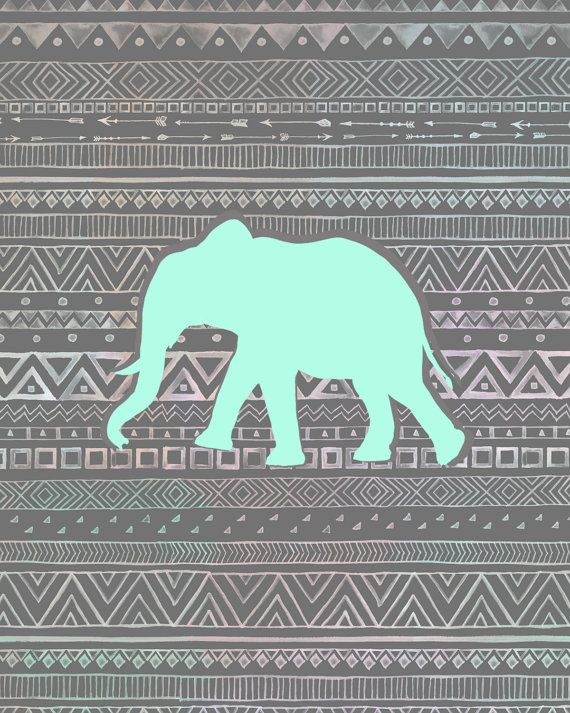 Elephant background, Elephants and Mint on Pinterest
