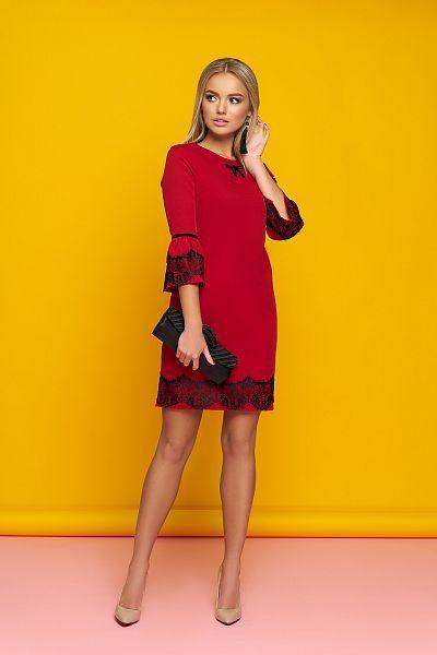 d2167ec714daa0 Дивовижне плаття червоного кольору in 2019   Гардероб   Сукні, Мода ...