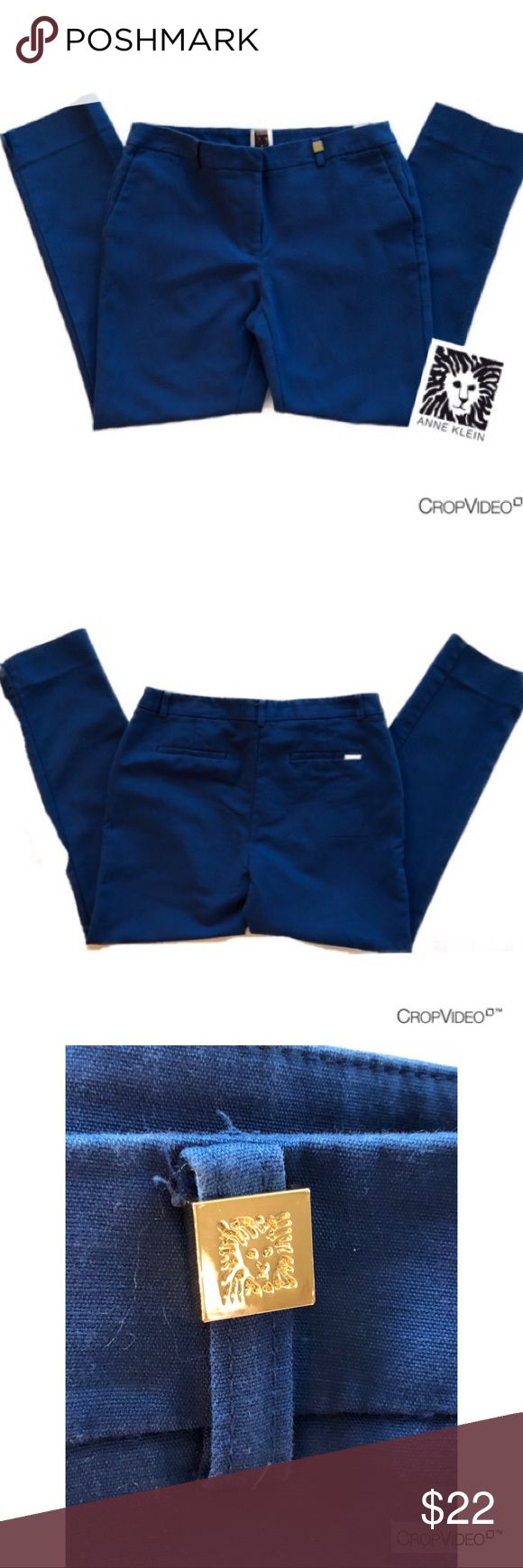 Anne Klein royal blue slim fit dress pants, size 4 Anne Klein royal blue slim fit ankle/ crop dress pants, size 4.  Excellent used condition Anne Klein Pants Ankle & Cropped