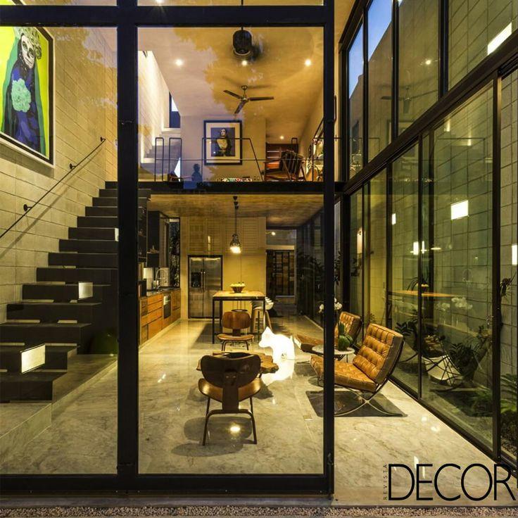 Dividida em dois níveis, Raw House lembra um extenso corredor. Veja em: http://revistadecor.com.br/index.php?ppant=&pp=galeria&cc=5404