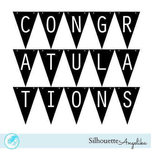 Congratulations Banner Free Silhouette Studio Cut File |