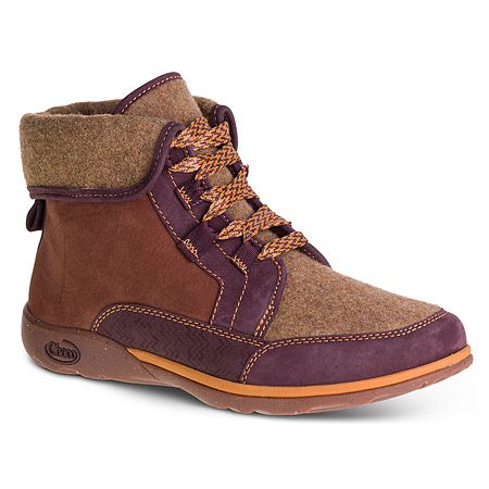 Chaco Barbary | Women's - Topaz - kickin' boots! Love the colors and use of different materials to make a cool looking low boot.