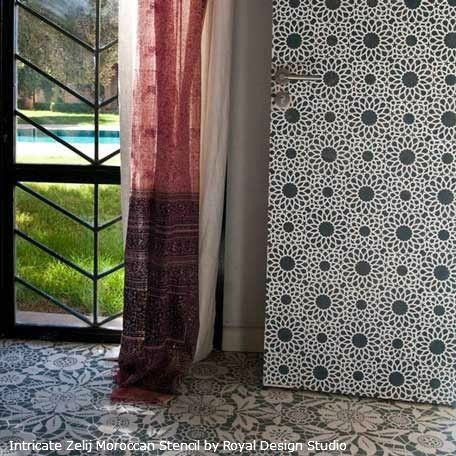 216 best images about Moroccan Wall Stencils & Design on ...