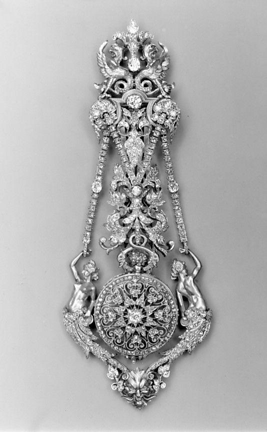 Watch and Chatelaine             Watchmaker: Hippolyte Téterger  Paris, France 1870-1878