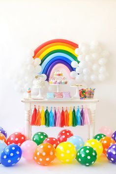 Make your guests feel like they're walking on sunshine with this colorful Over the Rainbow inspired Children's Birthday Party from Happy Wish Company