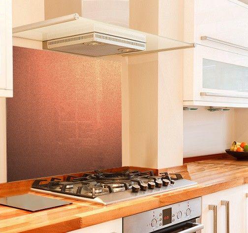 Glass - Metallic Painted Kitchen Glass Splashbacks - Pearl Copper | Splashbacks UK - Splashbacks UK