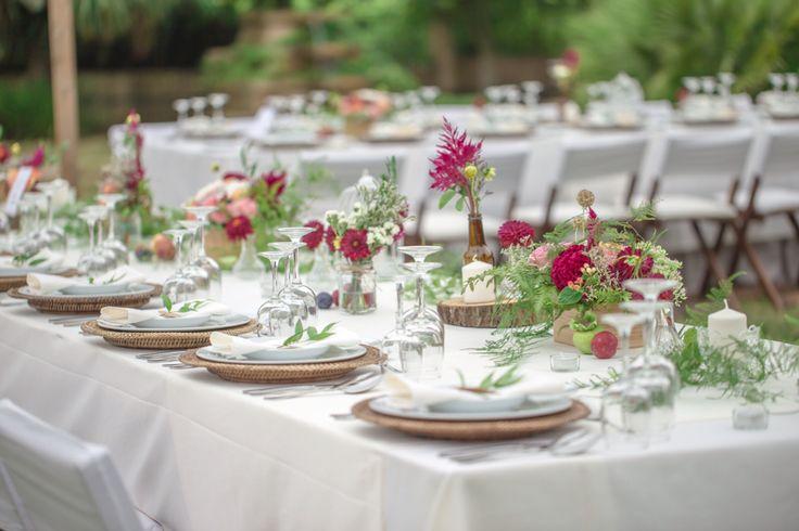 Marsala Wedding tablescape