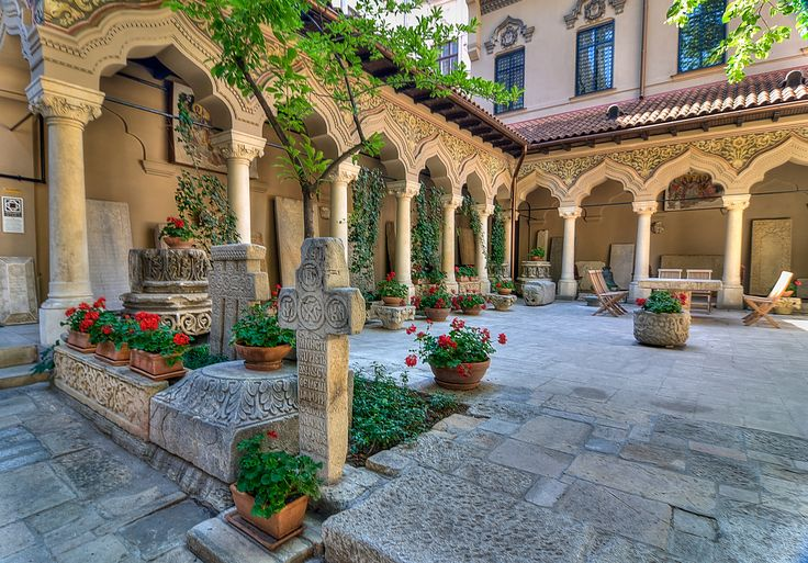 Stavropoleos Monastery - Bucharest. Here, you may listen to Byzantine music or go through a vast collection of books regarding the Byzantine Empire. Credits Gaspar Serrano