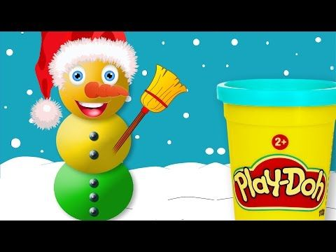 DIY Play-Doh Christmas Snowman Singing Peppa Pig and Friends Concert Kids Video - YouTube