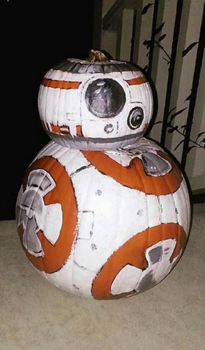 Star Wars meets Halloween with this BB-8 pumpkin