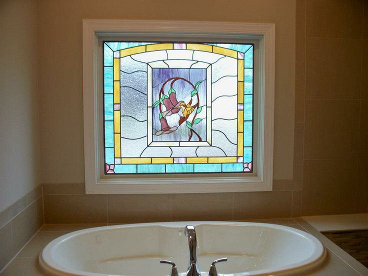 17 best images about our work on pinterest outdoor for Stained glass bathroom window designs