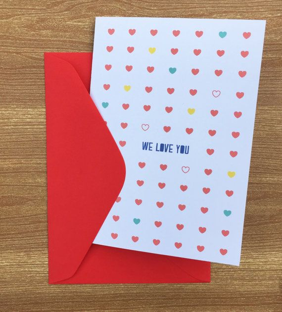We love you card by HeidiLDesign on Etsy