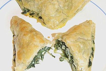 Blätterteig - Dreicke mit Spinat und Feta (Rezept mit Bild) | Chefkoch.de
