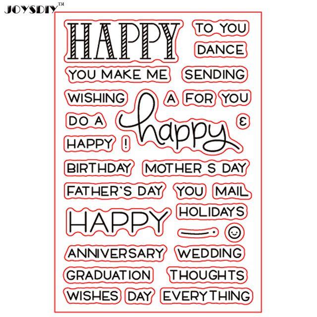 С днем рождения свадебные пожелания праздники записки DIY карт фото учетной записи штамп ясно штамп прозрачный штамп карты 10*20 см