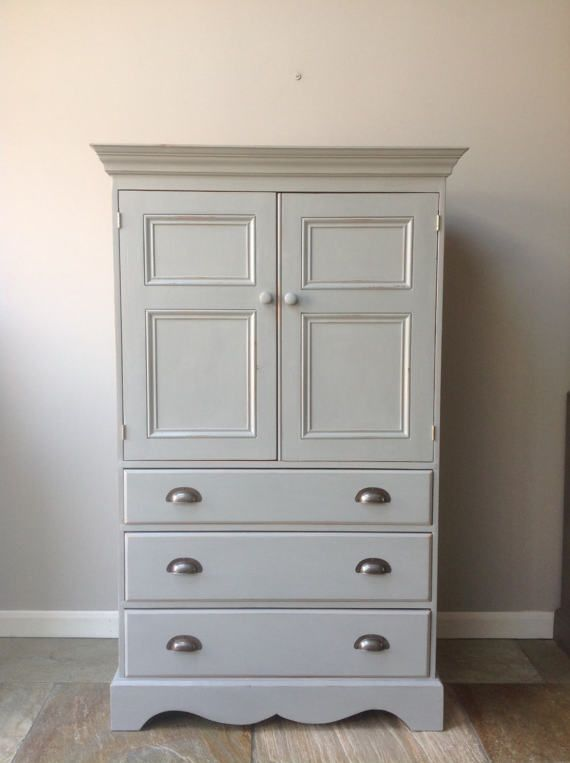 Small Hand Painted Country Farmhouse Larder Cupboard Free