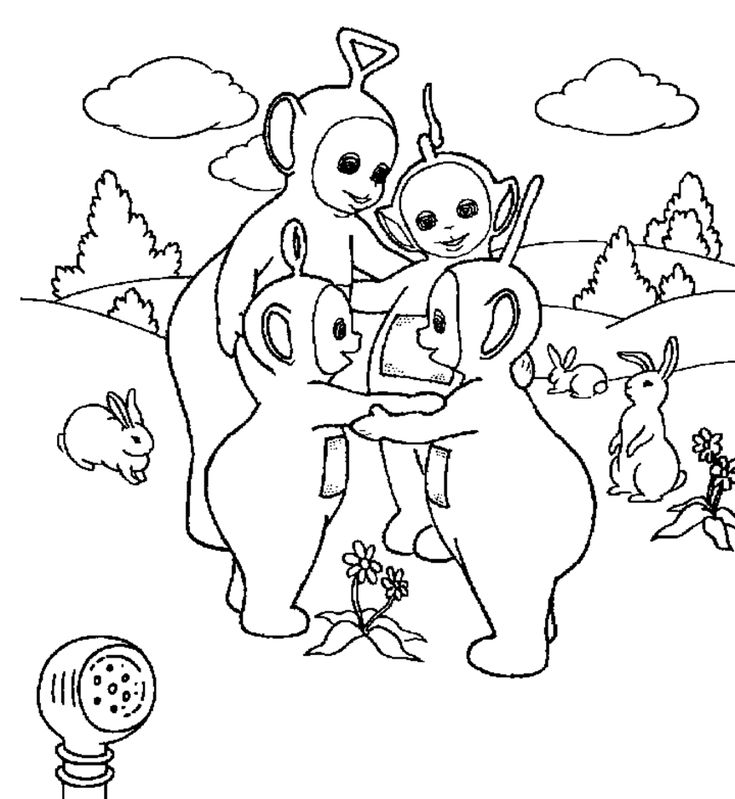 free printable teletubbies coloring pages - Teletubbies Dipsy Coloring Pages
