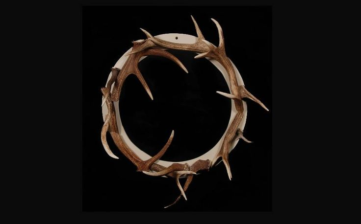 Real Red Deer Antler Christmas Wreath, by Emily Hannah, £280, notonthehighstreet.com