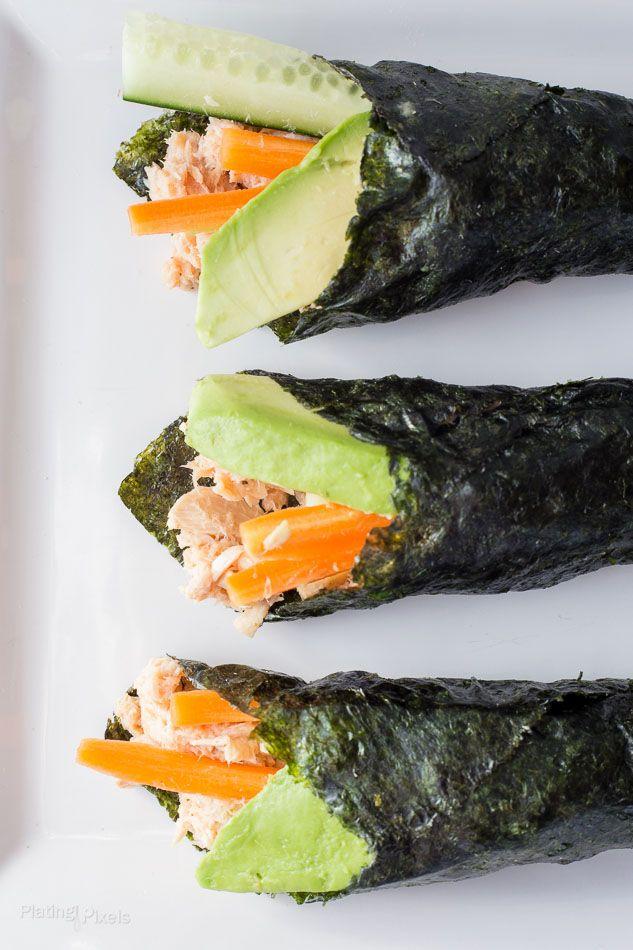Paleo Tuna Salad Nori Wraps