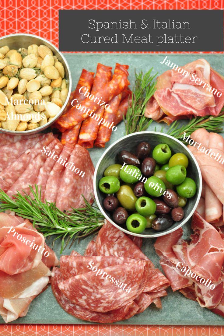 Spanish & Italian cured meat platter   wit wisdom & food