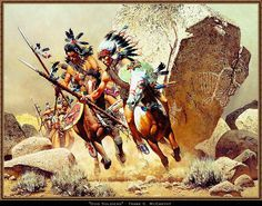 """The painting called """"Dog Soldiers"""" from Frank C. Mc Carthy"""