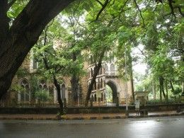 The cathedral near the University of Mumbai in the Kala Ghoda Art District
