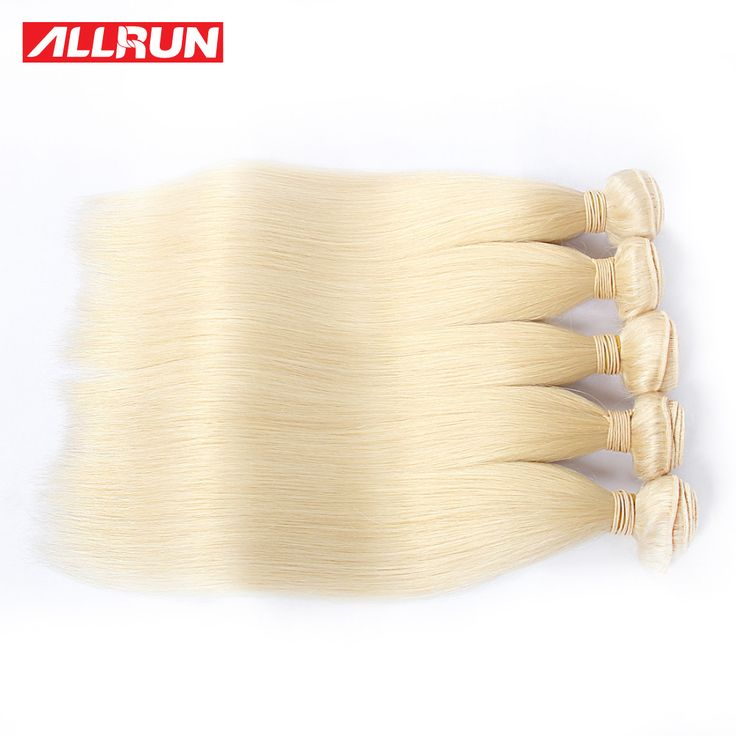 7a品質613ブロンドバージン毛ストレート4バンドルブロンドブラジルヘアプラチナブロンドバージン毛人毛エクステンション