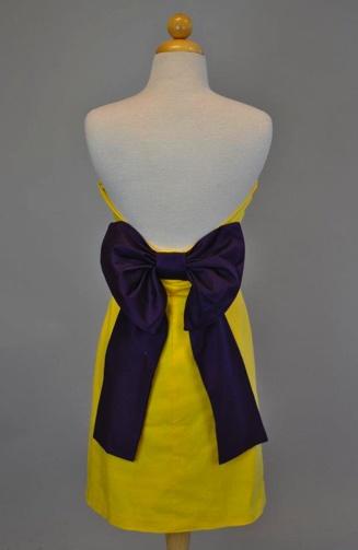 The Paige Gameday Dress {purple/gold} ........ECU!