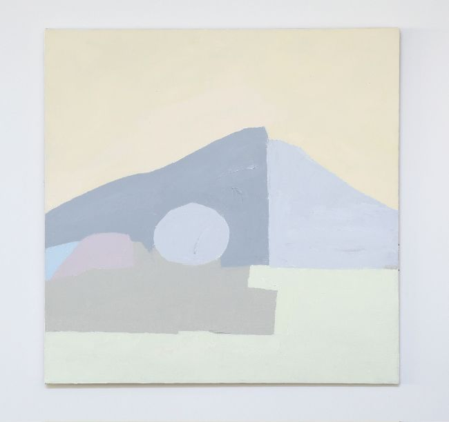 Etel Adnan  _itUntitledit_ 1985 Oil on canvas 30 x 29 inches 76.2 x 73.7 cm (Inv# EA063)