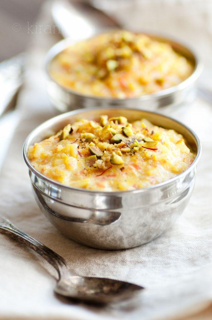 Rice & Carrot Pudding from Kiran Tarun