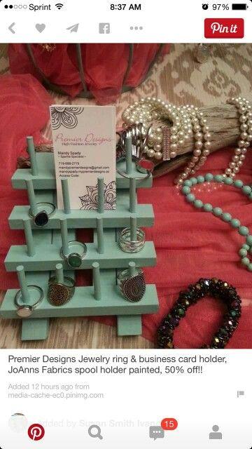 22 best premier display images on pinterest premier designs premier designs jewelry ring business card holder joanns fabrics spool holder painted off colourmoves