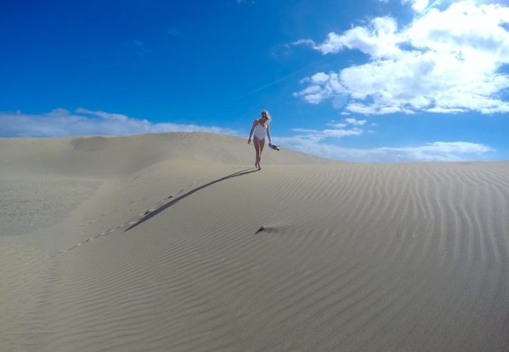 Maspalomas Desert, Gran Canaria, Spain. Stunning place for your next holiday instagram photo.