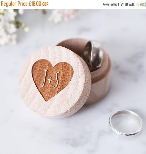 Rustic Wooden Ring Bearer Ring Box