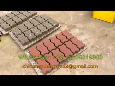 Giantlin Qt4 30 Diesel Hydraulic Interlocking Paving Block Making Machine Can Produce Sizes Of Concrete Interlocking Bricks Making Machine Interlocking Pavers