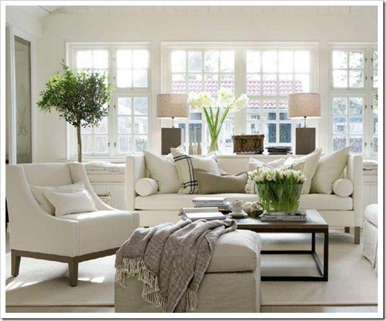 White beach interiors
